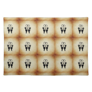 Two Cat Silhouette Place Mat