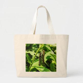 Two Caterpillars Canvas Bag