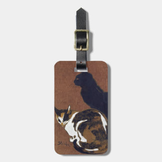 Two Cats, Alexandre Steinlen Luggage Tag