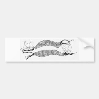 two cats bumper sticker
