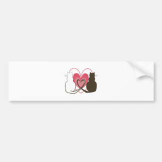 Two Cats Bumper Stickers