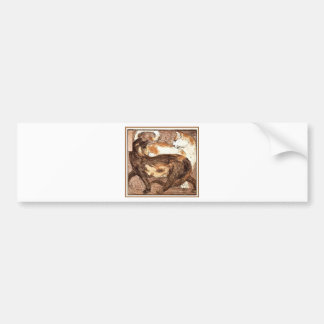 Two cats by Franz Marc Bumper Sticker