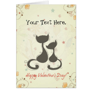 Two Cats Custom Valentine's Day Card
