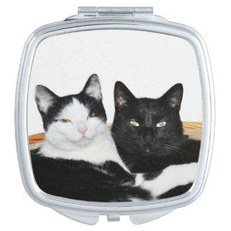Two Cats in Love Compact Mirror