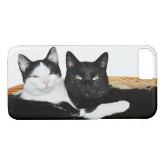 Two Cats in Love iPhone 8/7 Case