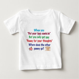 Two cents in, penny for your thoughts t shirt
