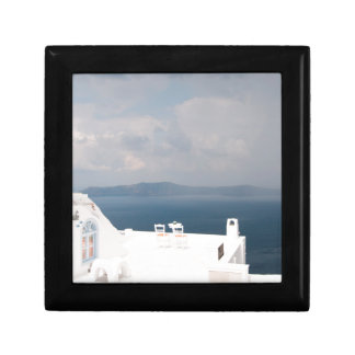 Two chairs on Santorini island Gift Box