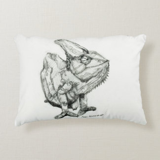 Two Chameleons, Derpy and Sleepy, Double Sided Decorative Cushion