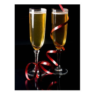 two champagne flute postcard