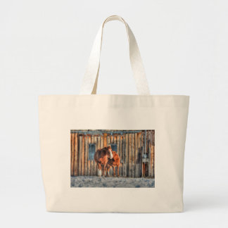 Two Cheeky Horses and a Barn Equine Photo Jumbo Tote Bag