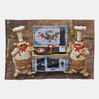 Two Chef's and Decorative Stove Kitchen Towels