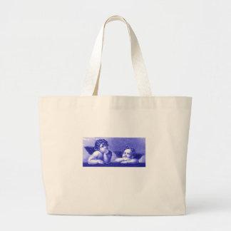 Two Cherubs Tote Bags