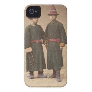 Two Chinese Men in Matching Traditional Dress Case-Mate iPhone 4 Cases