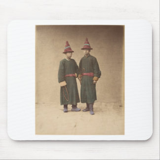 Two Chinese Men in Matching Traditional Dress Mouse Pad