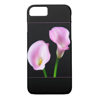 Two Classy Pink Calla Lilies Iphone Case