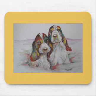 Two Cocker Spaniel Pups called the Rainbow twins. Mouse Pad