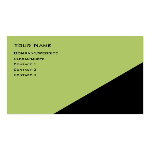 Two Color Angle Business Card Templates