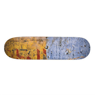 Two color distressed look skateboard