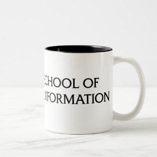 Two-color mug - black iSchool logo