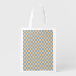 Two colored square pattern grocery bag