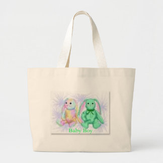 two colorful bunnies(Baby Boy) Bag
