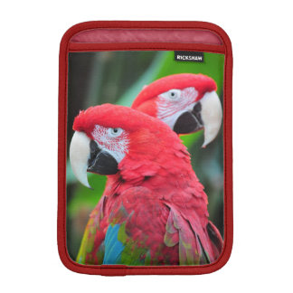 Two colorful parrots ipad mini sleeve