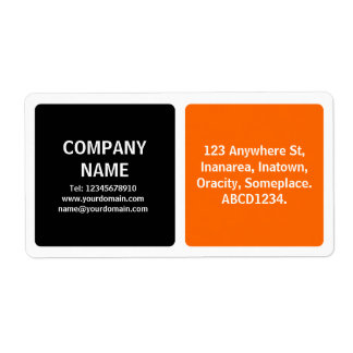 Two Colors - Black and Orange Shipping Label