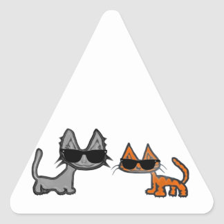 Two Cool Cats With Sunglasses On Stickers