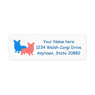 Two Corgis Return Address Label