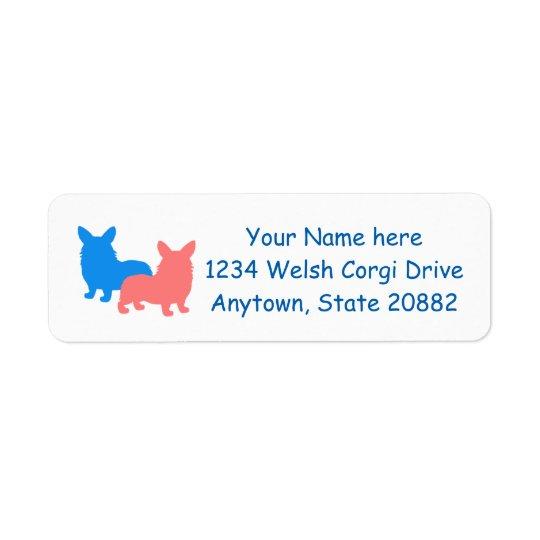 Two Corgis Return Address Label
