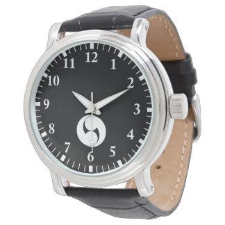 Two counterclockwise swirls (Jinuki) Wrist Watch