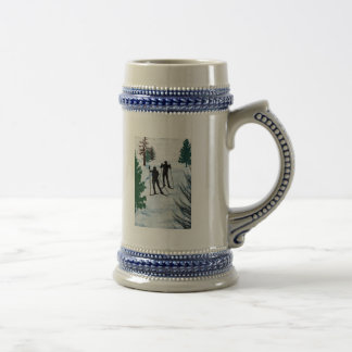 Two Cross Country Skiers Mugs