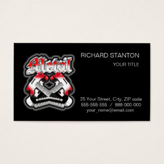 Two crossing guitars business card