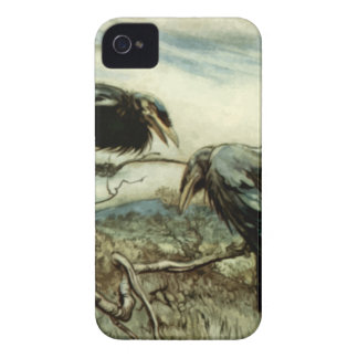 Two Crows Illustration Case-Mate iPhone 4 Cases