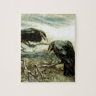 Two Crows Illustration Jigsaw Puzzle