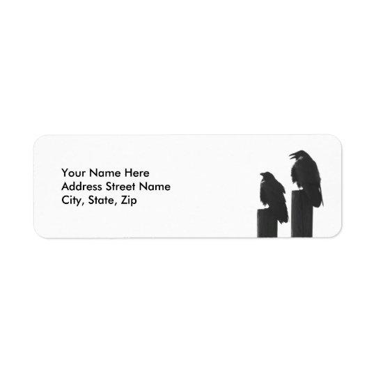 Two Crows Return Address Label