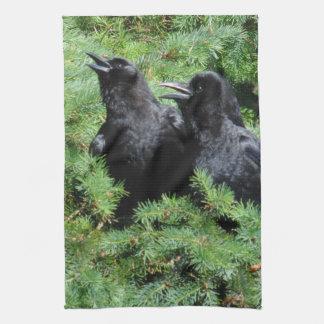 Two Crows Tea Towel