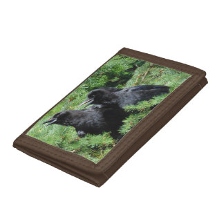 Two Crows Trifold Wallet