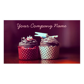 Two Cupcakes Vintage Photo - Business Card