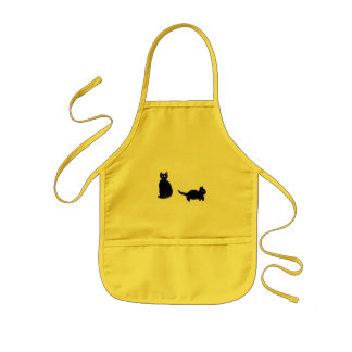 Two Cute Black Cats Kids Apron