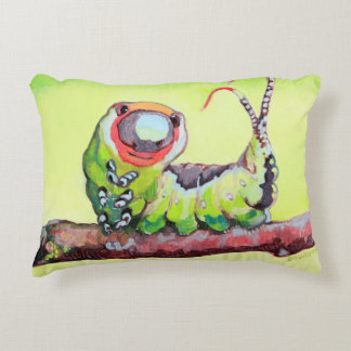 Two Cute Caterpillars Double Sided Decorative Cushion