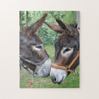 Two cute donkeys puzzle