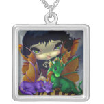 Two Cute Dragonlings NECKLACE dragon fairy