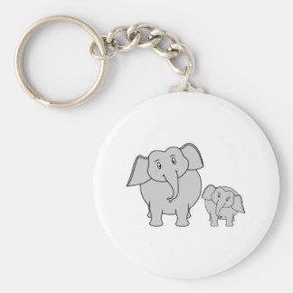 Two Cute Elephants Cartoon Key Chains
