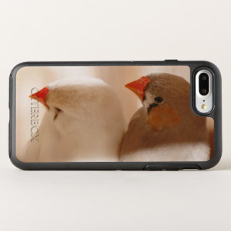 Two Cute Finch Birds in Cage OtterBox Symmetry iPhone 7 Plus Case