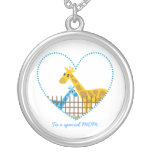 Two cute giraffes Mother baby boy Mother's Gift