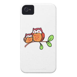 Two Cute Owls Case-Mate iPhone 4 Case