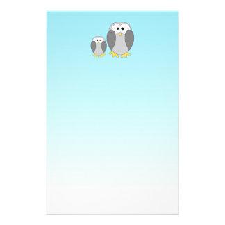 Two Cute Penguins. Cartoon on Sky Blue. 14 Cm X 21.5 Cm Flyer