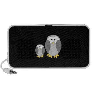 Two Cute Penguins Cartoon PC Speakers