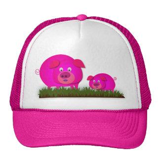 Two cute piglets hat